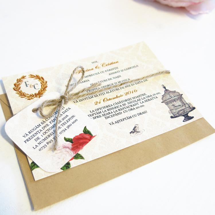 Invitatie De Nunta Peony