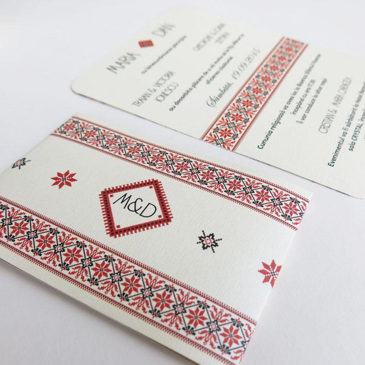 Invitatie De Nunta Model Traditional