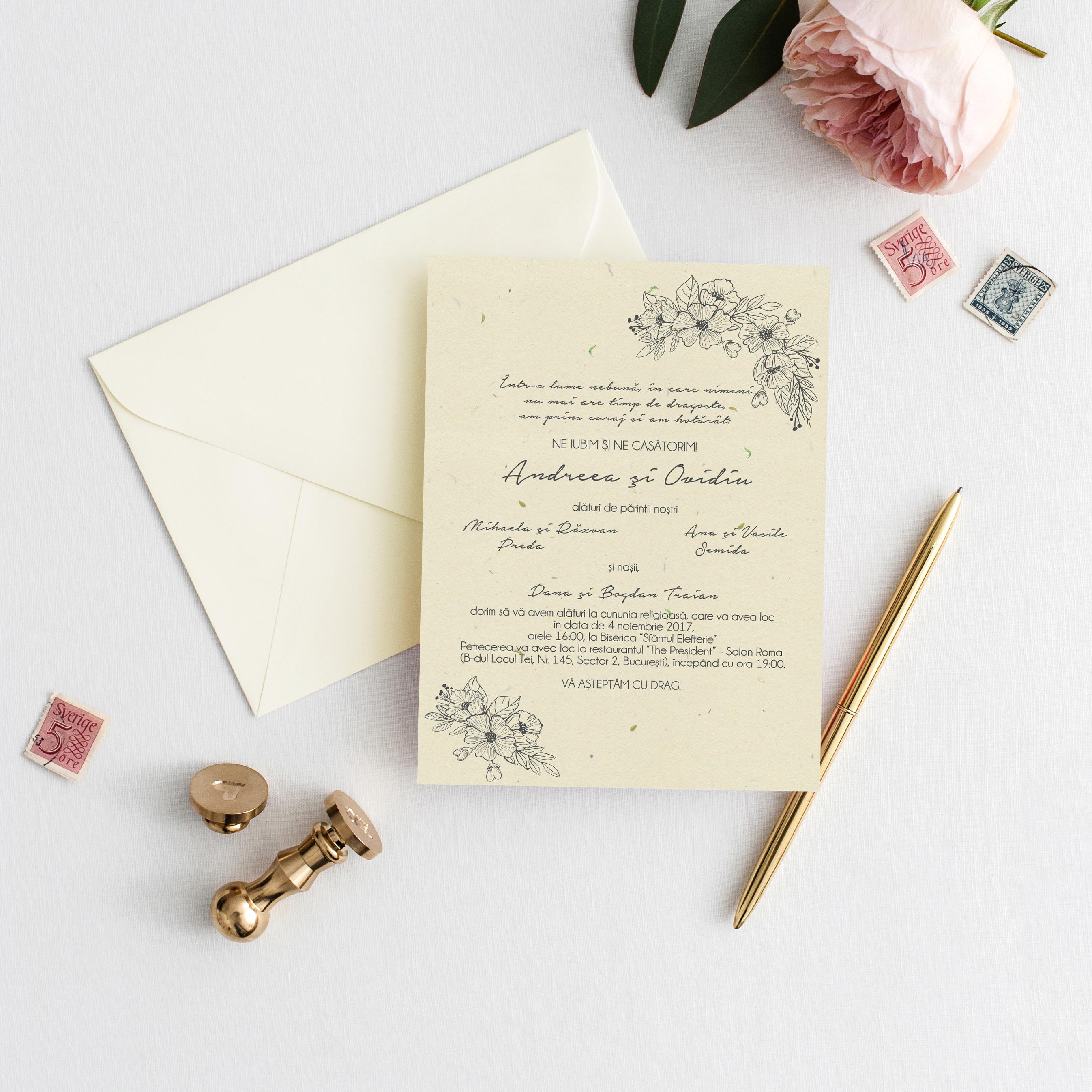 Invitatie De Nunta Delicate Paper