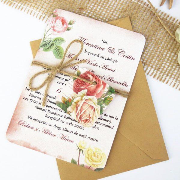Invitatie De Nunta Vintage Postcard