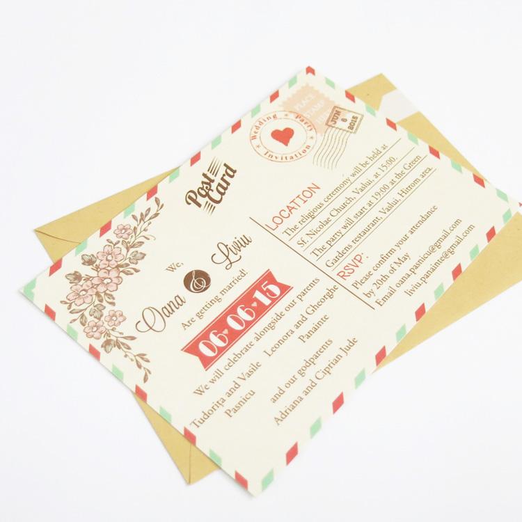 Invitatie De Nunta Postcard